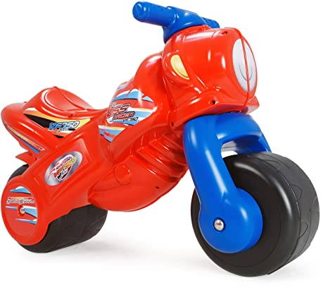 INJUSA - Moto correpasillos The Boss para niños de 18 meses, roja y azul (