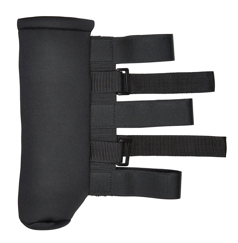 EAG Black Nylon Strap Roll Bar Fire Extinguisher Holder Velcro (76-17 Jeep Wrangler YJ/TJ/JK 2.5 lb)