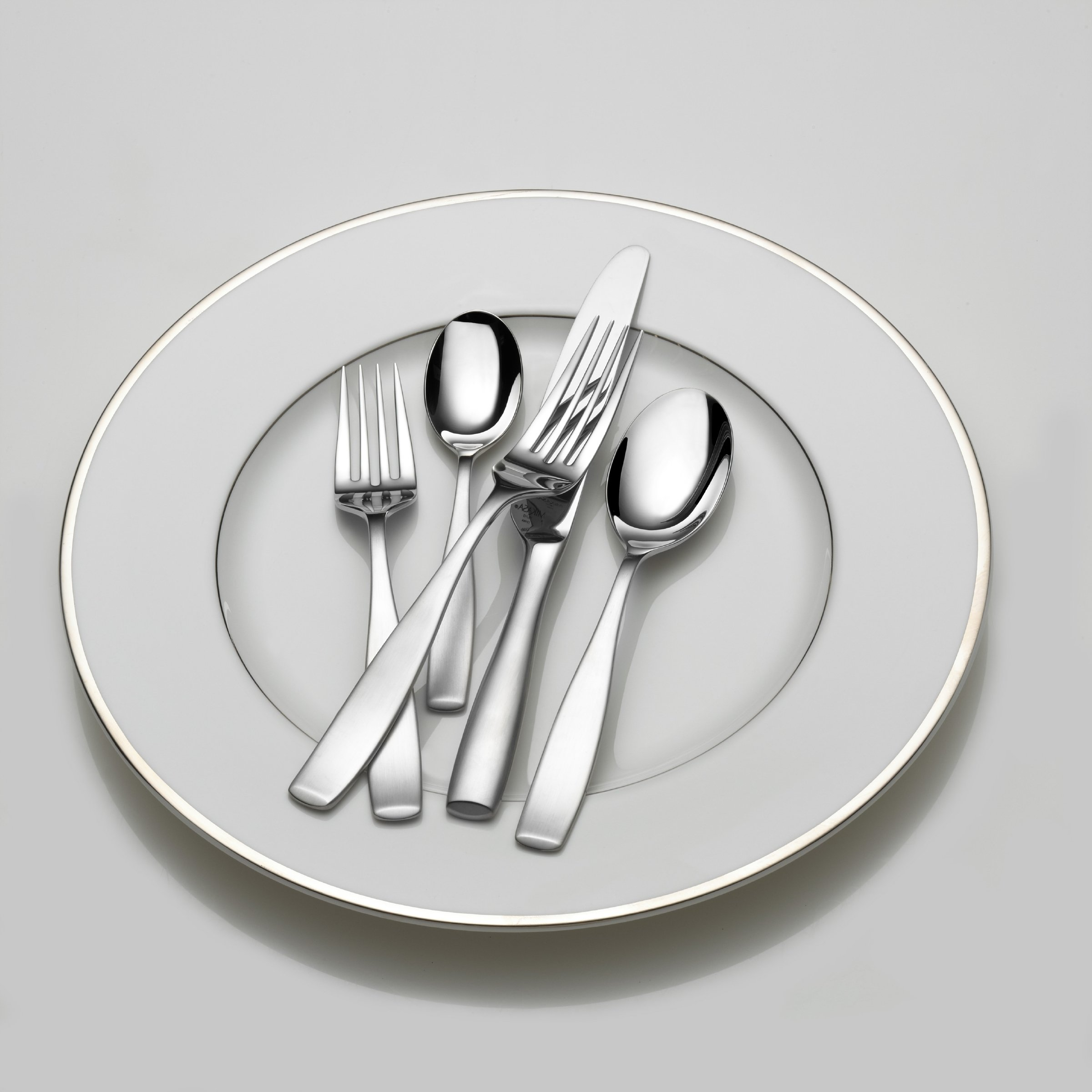Mikasa Satin Loft 65-Piece Stainless Steel Flatware Set with Serveware, Service for 12 by Mikasa (Image #4)
