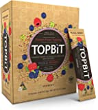 TOPBiT-Protein Food Topping Mixed Berry-12 Packets-Plant-Based Vegan Protein Topping-Sugar Free, Dairy Free, Gluten Free