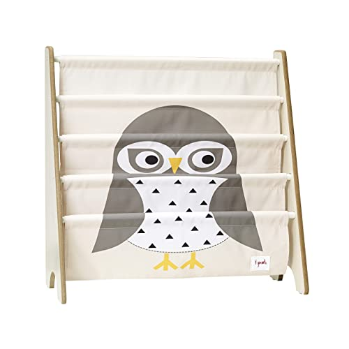 3 Sprouts Book Rack Kids Storage Shelf Organizer Baby Room Bookcase Furniture Owl