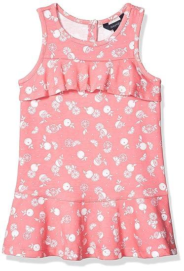 Nautica Girls Patterned Sleeveless Dress