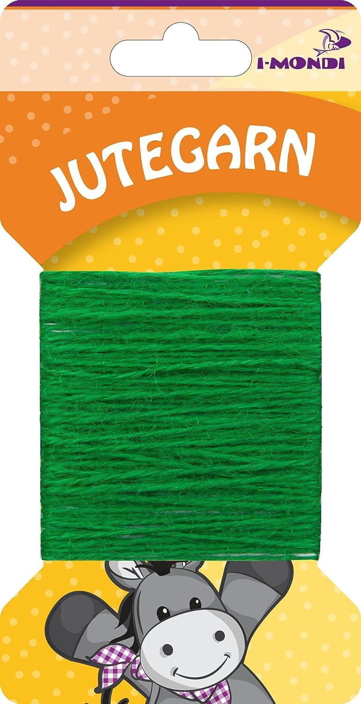 i-mondi® Hilo de yute para bordar tejer color verde largo 10 m Ø ...