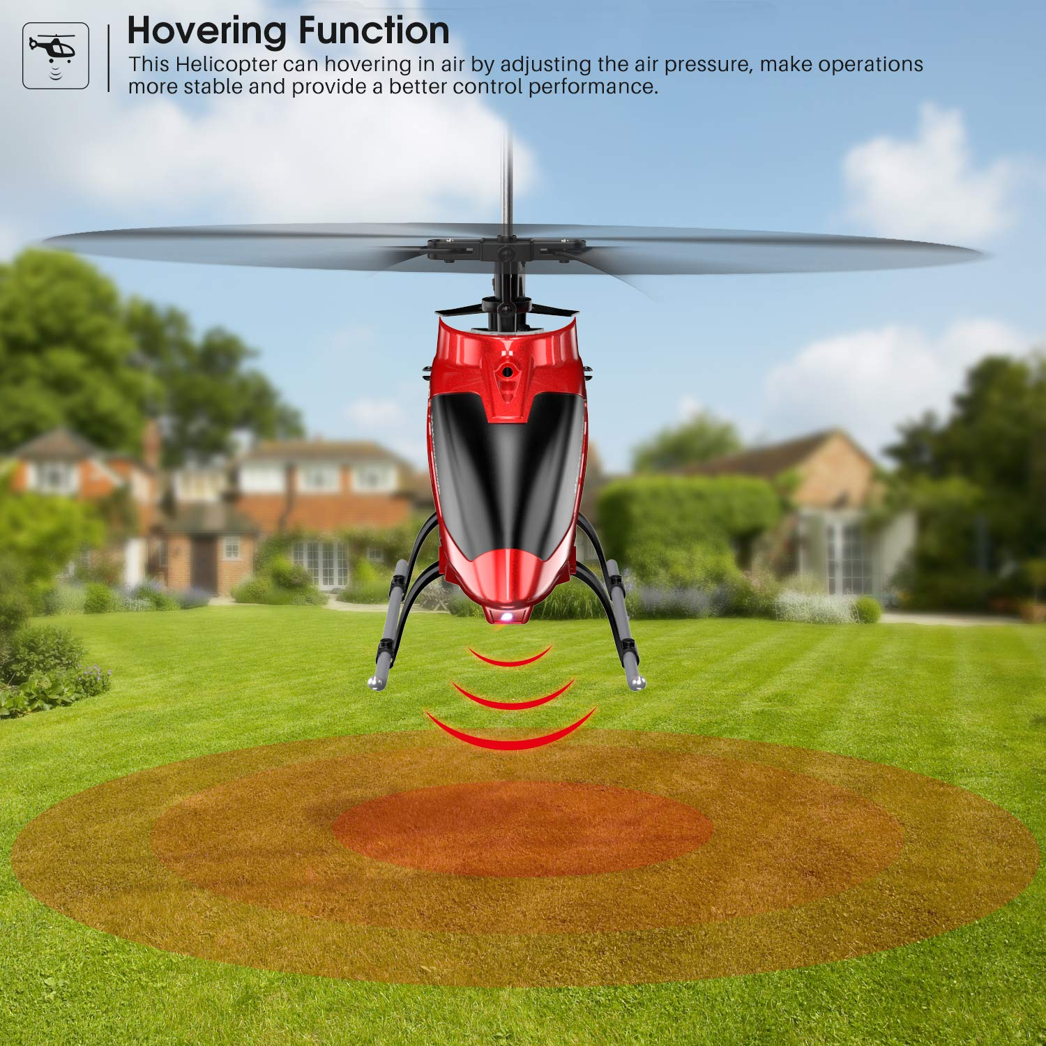 Sturdy Alloy Material S37 Aircraft with Altitude Hold,3.5 Channel Gyro Stabilizer and High /&Low Speed Multi-Protection Drone for Kids and Beginners to Play Indoor-Red 【Biggest Size】 RC Helicopter