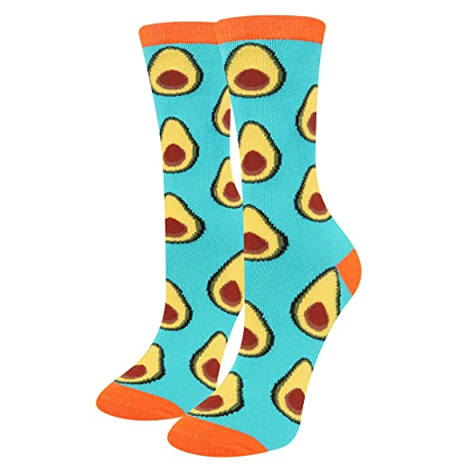a99cba91222 Amazon.com  Novelty Avocado Socks