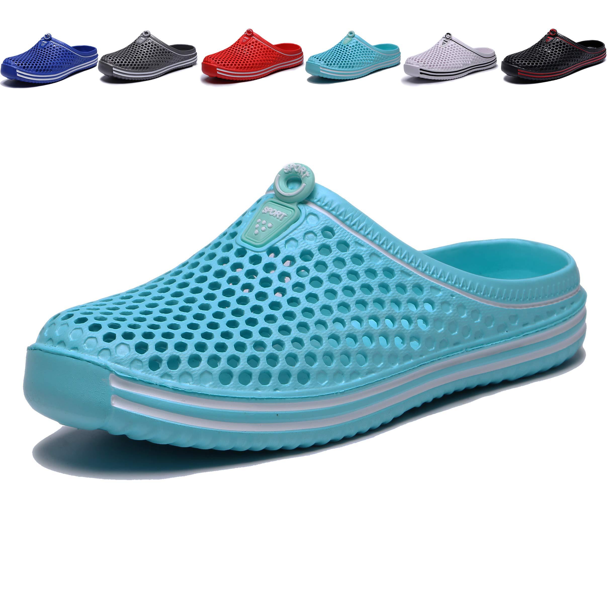 welltree Garden Shoes/Sandals Women Men Quick Drying Clogs/Slippers Walking Lightweight Rain Summer 9 Men/11 Women/Light Blue/43