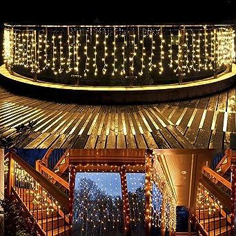 Weihnachtsbeleuchtung Für Balkongeländer.Lichterkette Außen B Right 480 Led Lichterkette Strombetrieben Lichterkette Warmweiß Mit Fernbedienung Lichterkette Innen Lichtervorhang