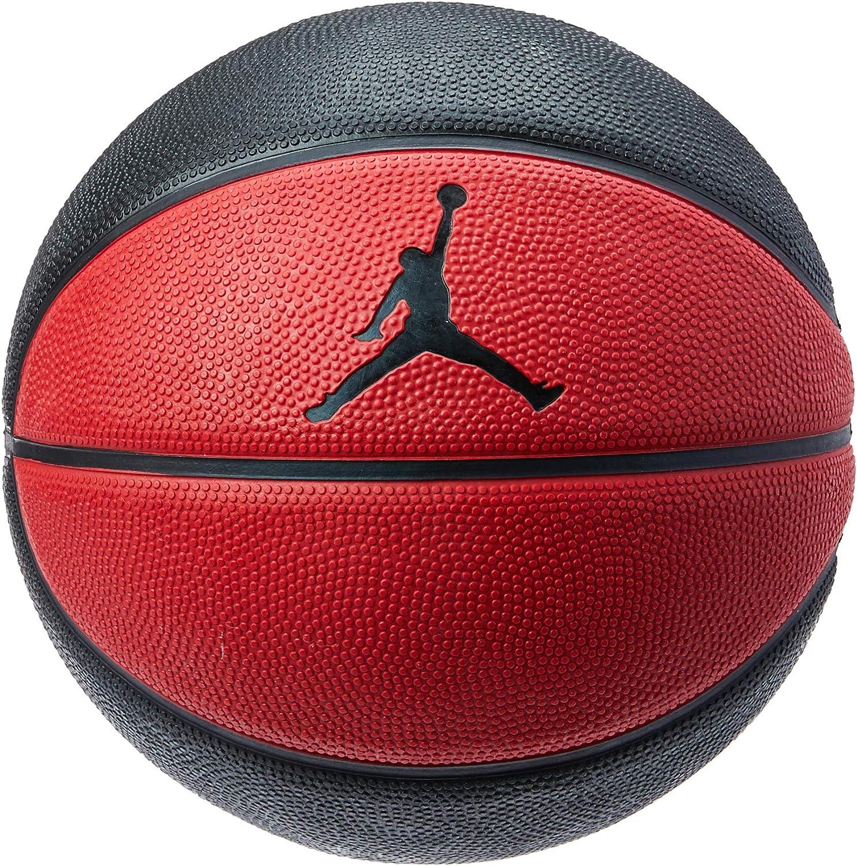 Balón pequeño Jordan de baloncesto, negro y rojo, talla 3: Amazon ...
