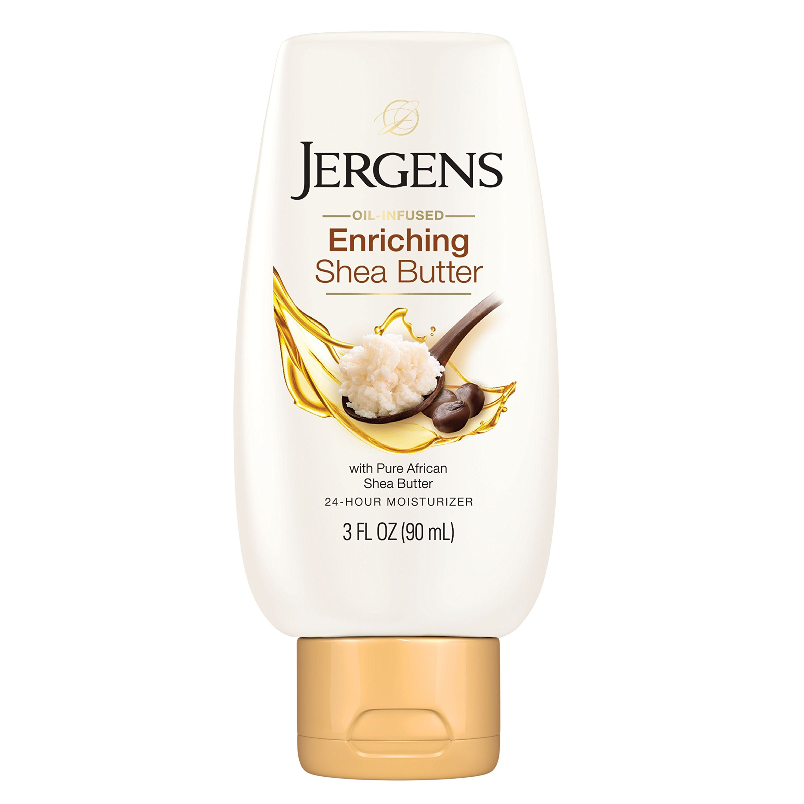 Jergens Shea Butter Deep Conditioning Moisturizer, 3X More Radiant Skin, 3 Ounces, with Pure Shea Butter, Dermatologist Tested (Packaging May Vary)