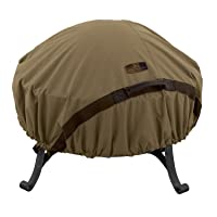 Classic Accessories Hickory Heavy Duty Round Fire Pit Cover - Durable and Water Resistant Patio Cover, Small (55-199-012401-EC)