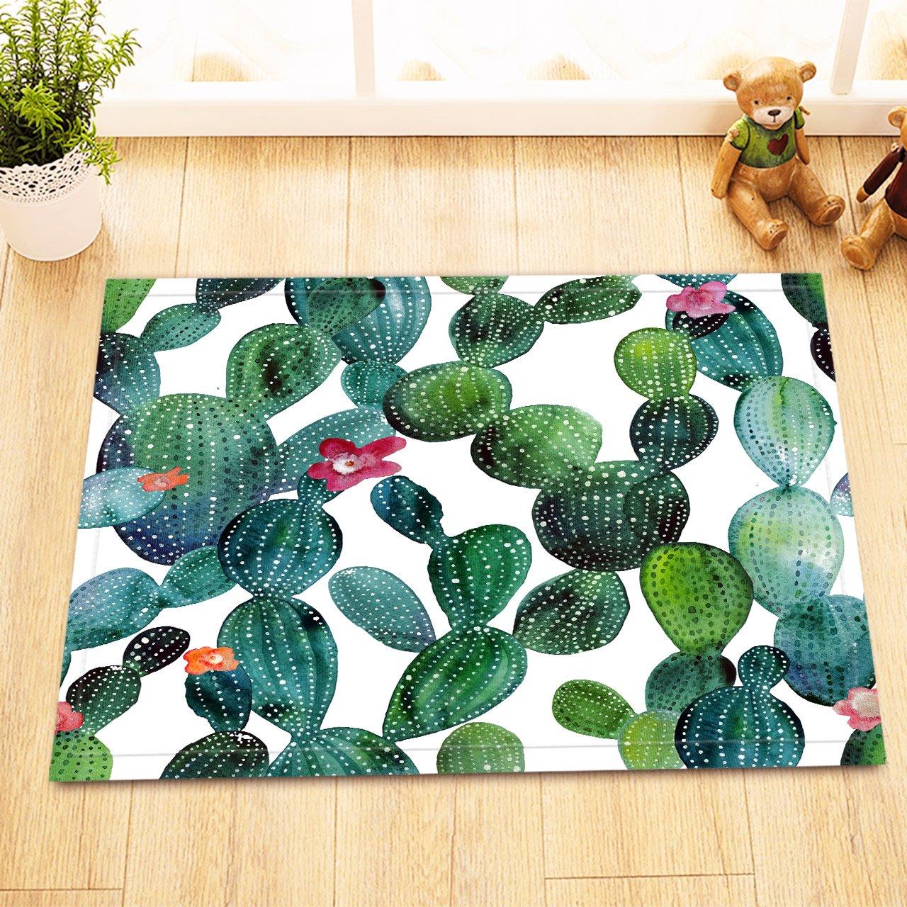 Pianta del deserto, fiore, cactus_arredamento Tappetino da bagno antiscivolo Anti muffa lavabile soffice doccia tappeto, 40X60 CM JinShiZhuan