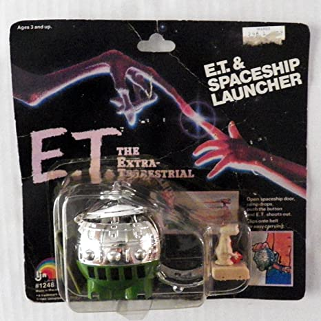 Vintage 1982 E.T /& Spaceship Launcher New Sealed Unopened #1248 Ljn