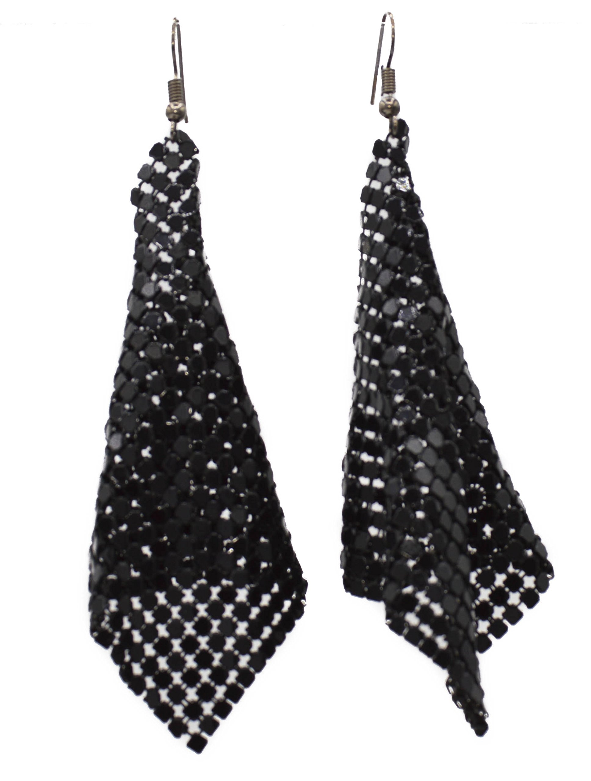 Mesh Dangle Earrings Available in 3 Colors (Gold, Silver, Black) (base)