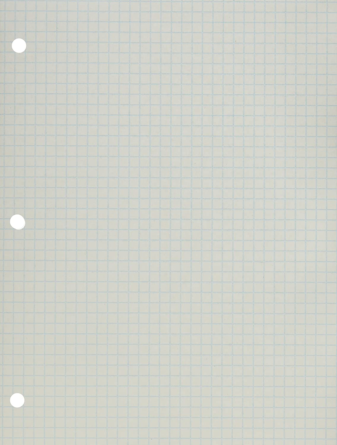 School Smart 86667 2 Sided 3 Hole Punched 1/4 in Rule Graph Paper - 8 1/2 in x 11 - Pack of 500 - White School Specialty 086667