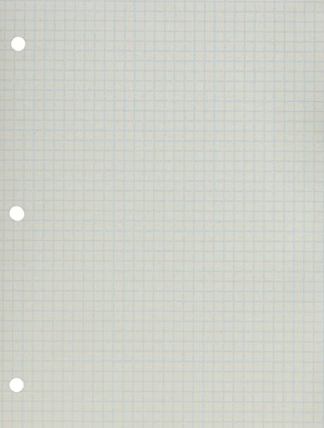 School Smart Double Sided Grid Paper, 3 Hole Punched, 8 1/2 X 11 Inches, 1/4 Inch Rule, White, Pack Of 500 by School Smart
