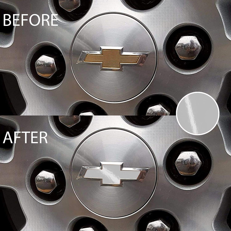Bogar Tech Designs Pre Cut Center Wheel Cap Vinyl Decal Sticker Compatible with Chevy Silverado 2019 Gloss Silver