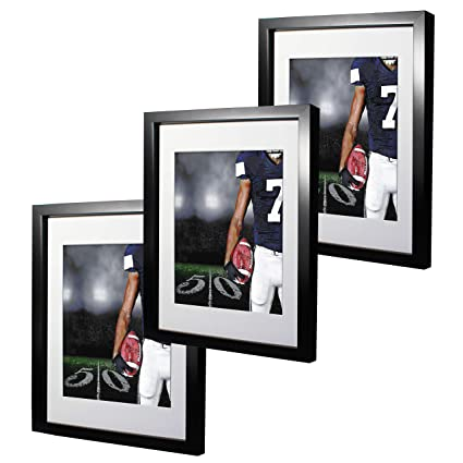Amazon 11x14 Black Picture Frames With 8x10 Mat For Wall And