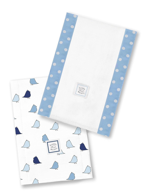 Bleu Set de 2 Linges Prot/ège /Épaule Coton Petits Poussins SwaddleDesigns Baby Burpies