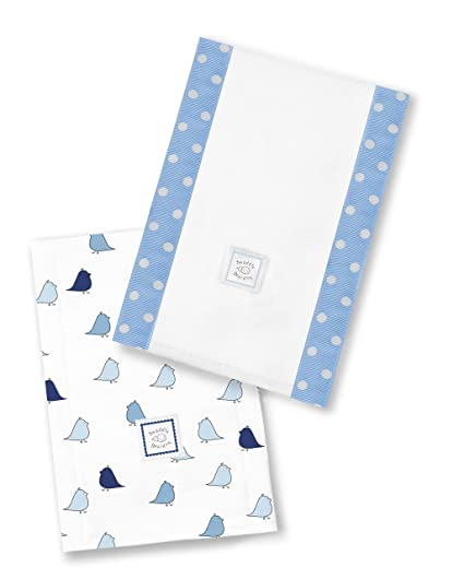 SwaddleDesigns BURPIES Baby Muslin Burp Cloths Blue or Sterling ~ NEW!