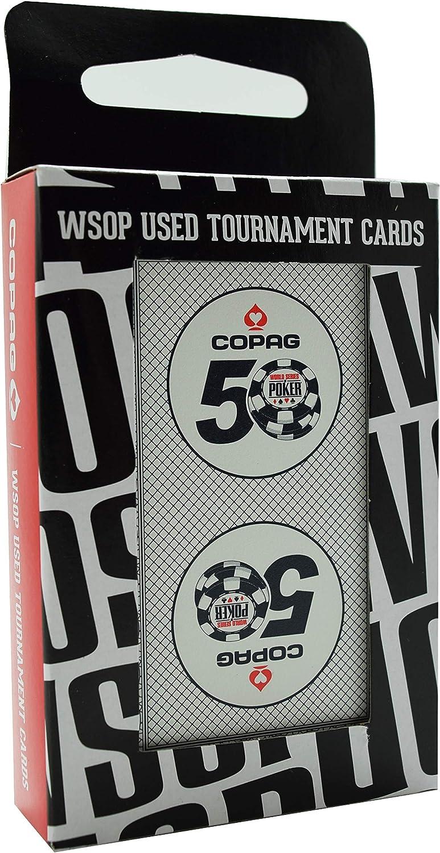 WSOP 2 Decks World Series of Poker Used Copag Plastic Playing Cards 50th Anniv.*