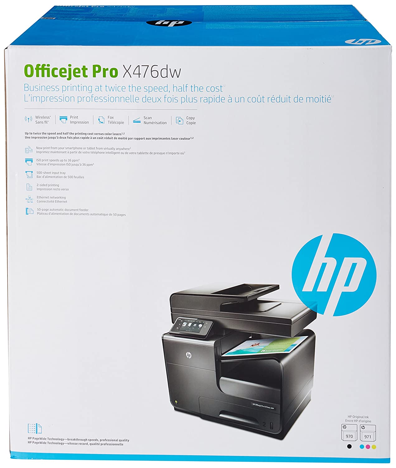 amazon com hp officejet pro x476dw office printer with wireless