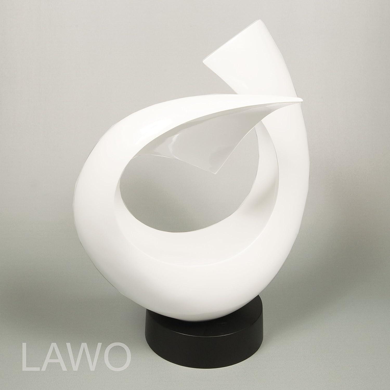 Top LAWO 101373 Laque Design Sculpture LINUS blanc Moderne Deco-Objet  RV21