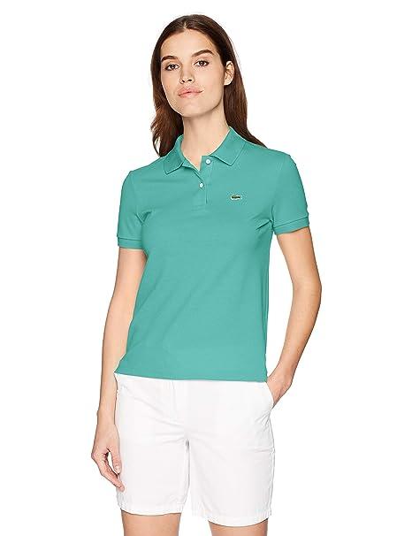 649d9209 Lacoste Women's Classic Fit Short Sleeve Soft Cotton Petit Piqué Polo