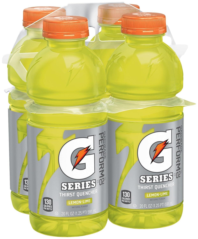 Gatorade Sports Drink, Lemon Lime, 20oz 4pk Bottles