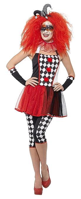 Smiffy s 44733s de las mujeres trenzado de arlequín disfraz ...