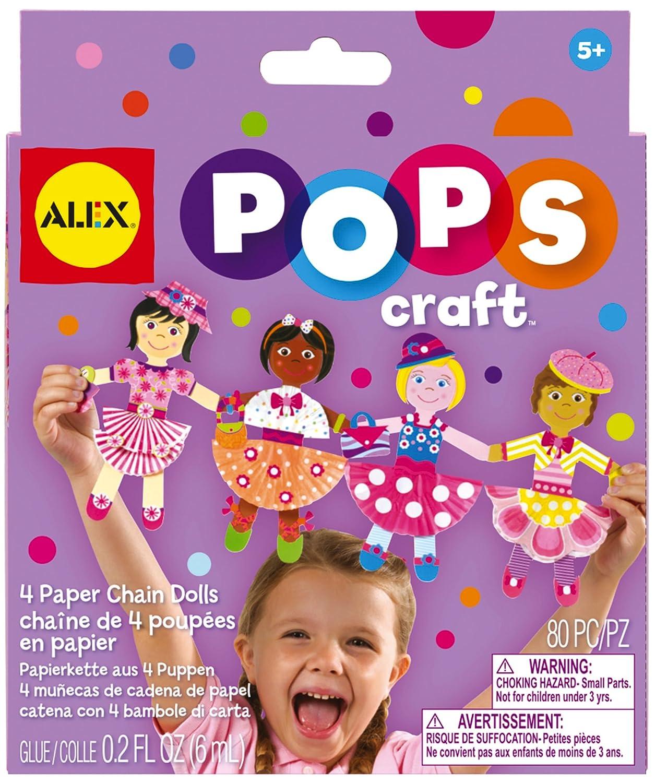 ALEX Toys POPS Craft 4 Paper Chain Dolls 1193