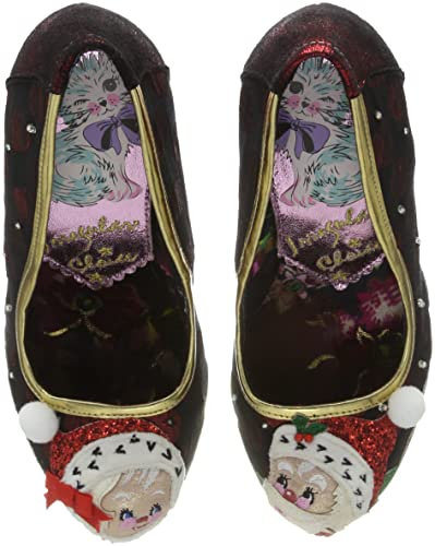 Irregular Choice Mr and Mrs Claus, Escarpins Bout Fermé Femme, Multicolore (Red/Green A), 38 EU