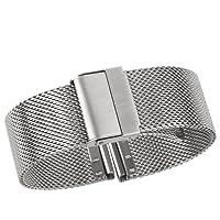 cinturino di lusso di fascia alta cinturino in metallo cinturino in metallo milanese cinturino di ricambio per orologio con fibbia pieghevole di sicurezza solido, acciaio inossidabile 316l