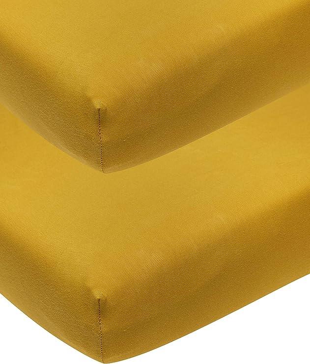 Meyco 563223 - Juego de 2 sábanas bajeras ajustables para cuna de ...
