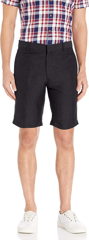 Louis Raphael Mens Slim Fit Flat Front Linen Blend Short