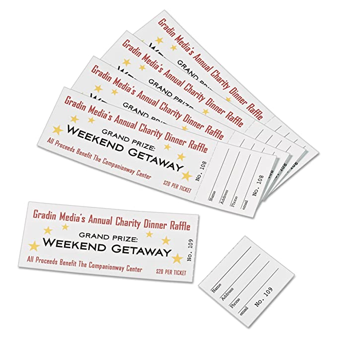 raffle ticket perforated paper