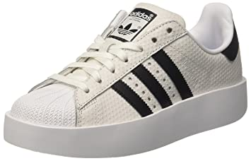adidas Superstar Bold W Womens Trainers White Black - 3.5 UK