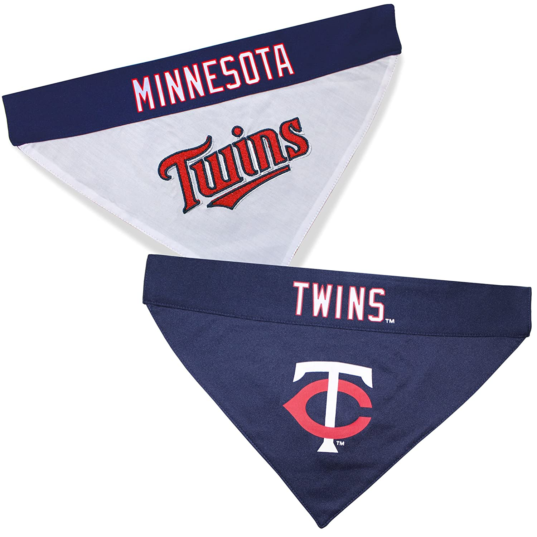 Large//X-Large Pets First TWN-3217-L-XL MLB Minnesota Twins Reversible Pet Bandana MLB Team Color