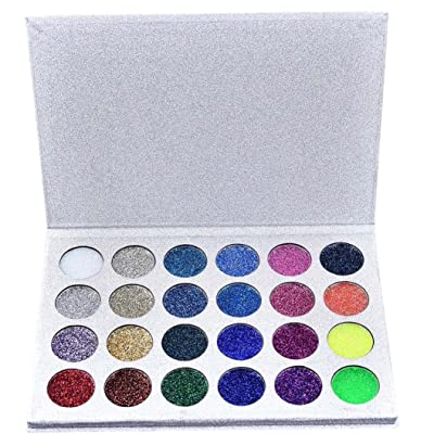 24 Colors Eyeshadow Palette, Staron Natural Eyeshadow Palette Cosmetic Matt Shimmer Eye Shadow Powder Eyeshadow Makeup Palette (A)