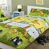 Cheeky Monkey Single Duvet Cover & Pillowcase Bedding Bed Set Multi