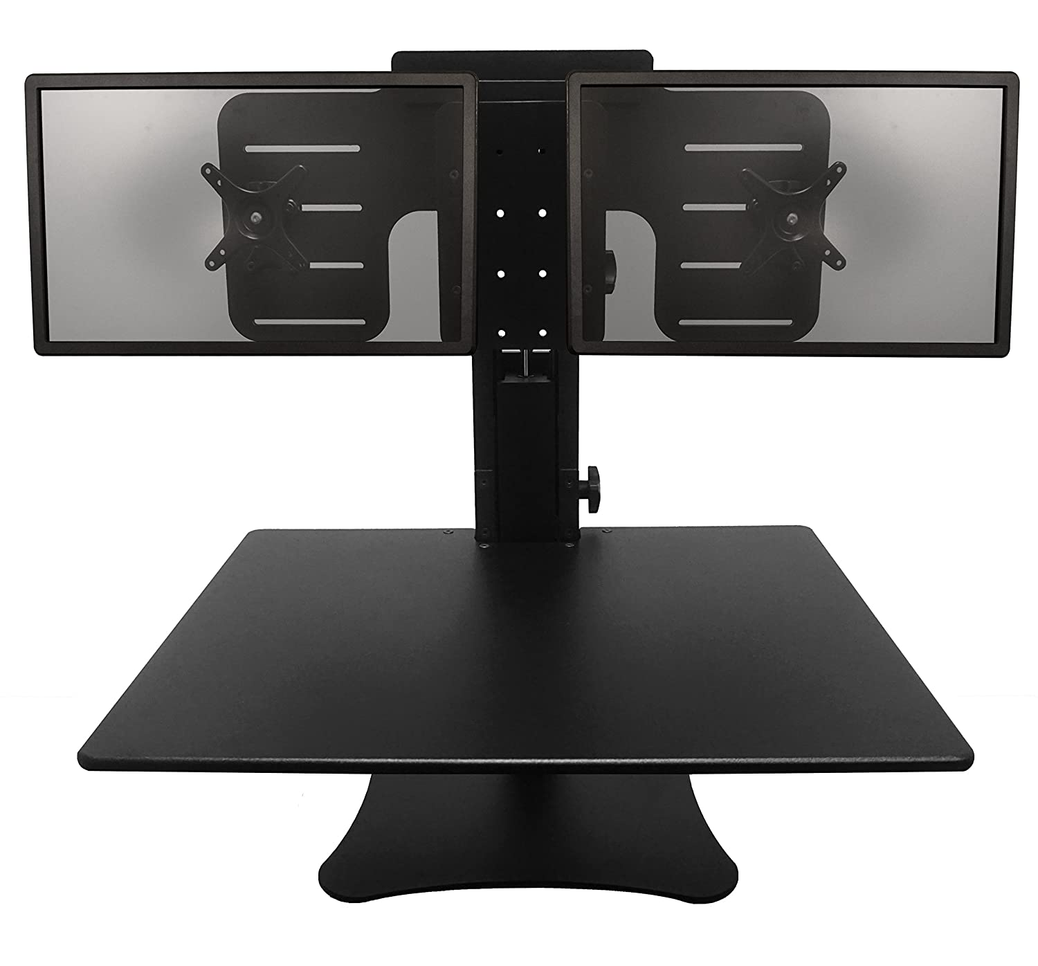 Dual Monitor Sit Stand Desk Top Workstation Humanscale