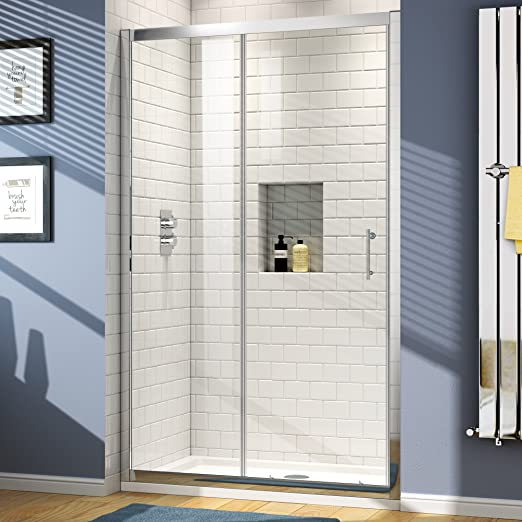 1100 x 760 mm de cristal corredera para mampara de ducha de alcoba ...
