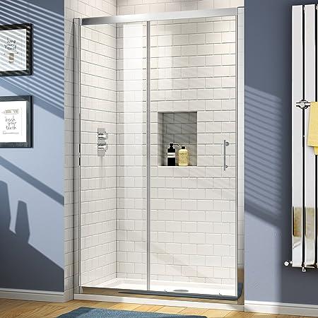 1100 x 760 mm de cristal corredera para mampara de ducha de alcoba juego de cabina de con bandeja: iBathUK: Amazon.es: Hogar