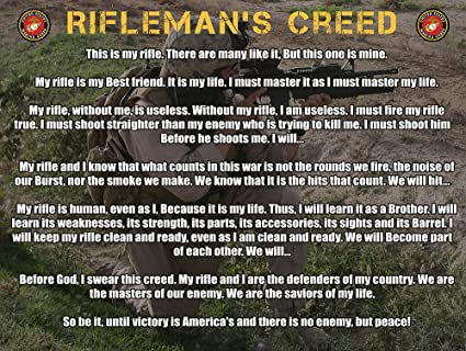 riflemans creed