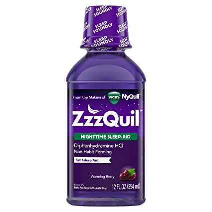 zzzquil noche dormir ayuda, calentamiento Berry líquido hfs-koi-zk-a8406,