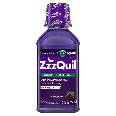 zzzquil noche dormir ayuda, calentamiento Berry líquido hfs-koi-zk-a8406, 12oz, 1: Amazon.es: Salud y cuidado personal