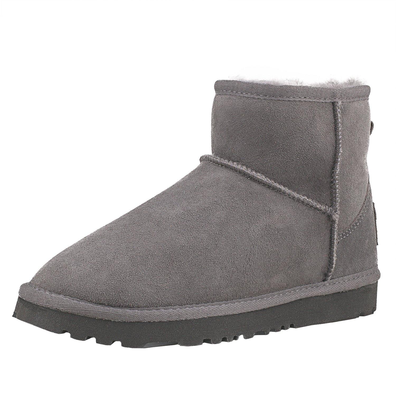 Shenduo DV5854 Classic, Bottes de Neige Gris Femme, Boots d de hiver Courts Doublure Chaude DV5854 Gris 80ebb59 - automatisms.space