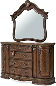 Michael Amini Bella Veneto Dresser Mirror, Cognac