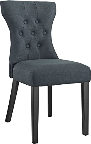 Modway Silhouette Modern Tufted Upholstered Fabric Parsons Kitchen and Dining Room Chair