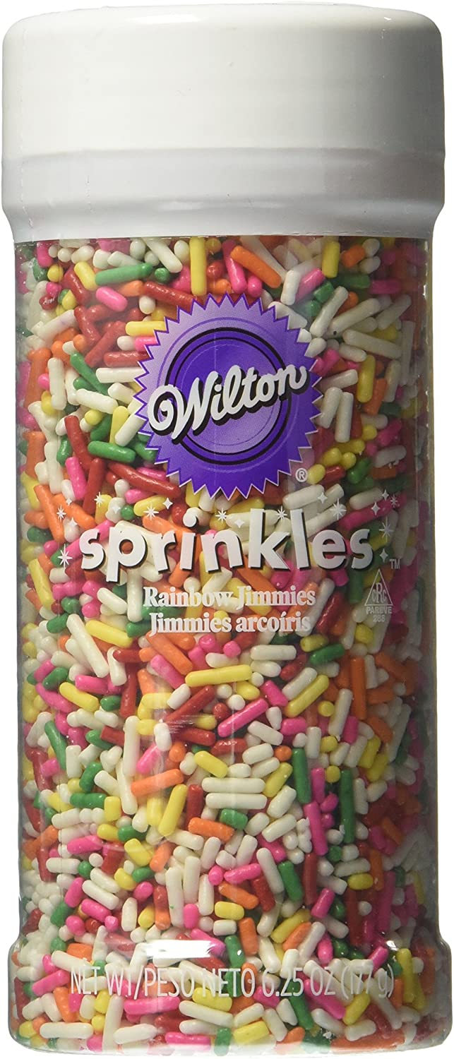 Wilton 710-994 Rainbow Jimmies Food Decorative