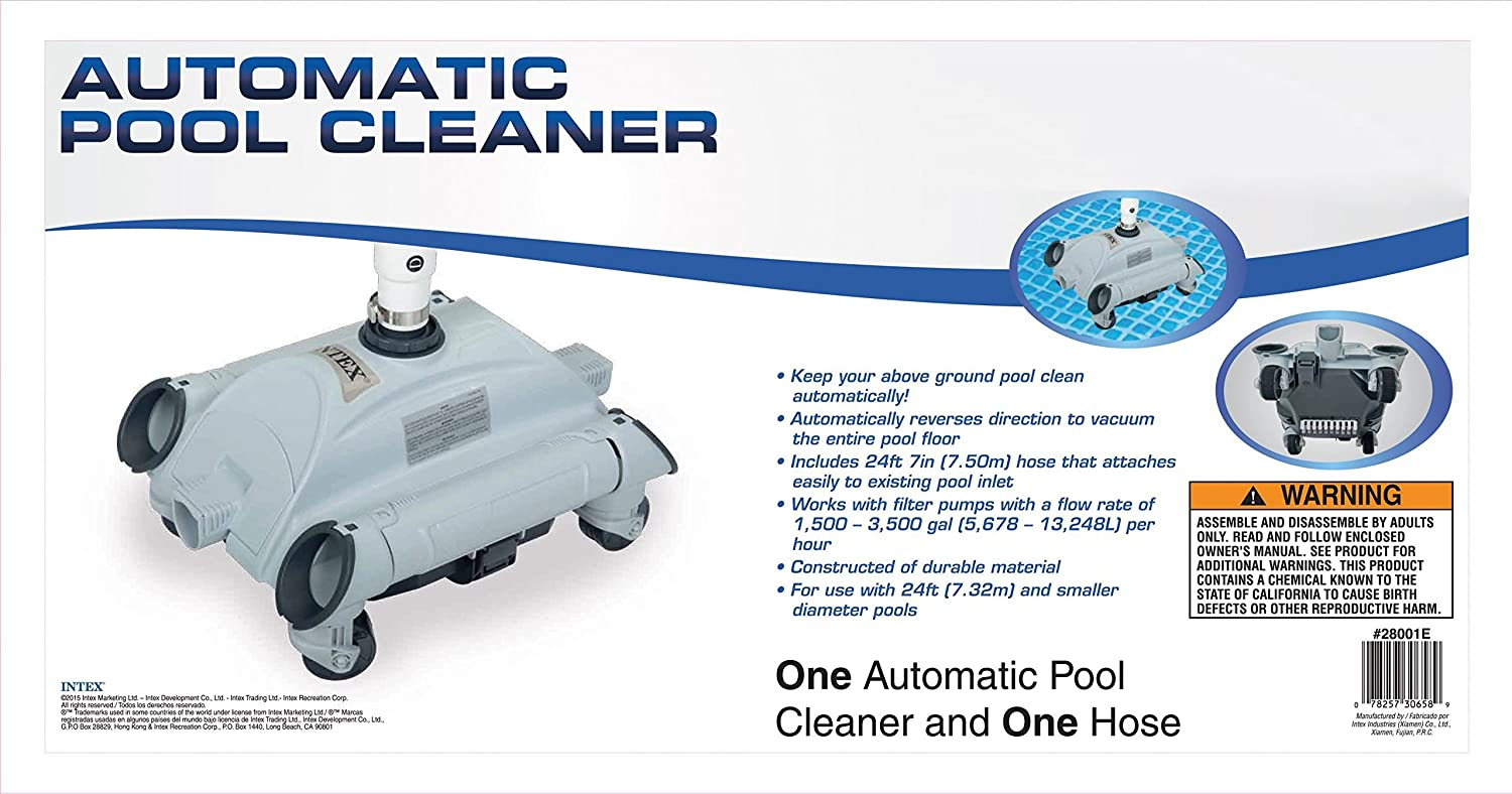 Amazon.com : Intex Auto Pool Cleaner : Swimming Pool Suction ...